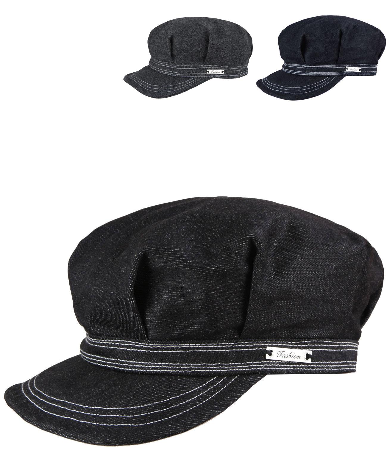 b8d4d2276dd9b3 caripe Damen Ballonmütze Schirmmütze Sommer Mütze Vintage Cap Jeans - fash18