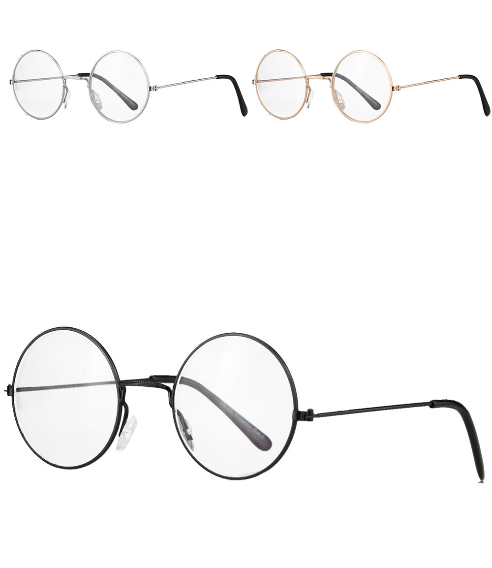 caripe lennon retro fensterglas brille nickelbrille rund. Black Bedroom Furniture Sets. Home Design Ideas